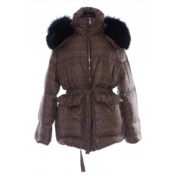 YVES SALOMON SHORT DOWN JACKET WITH