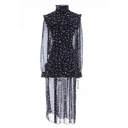 SAINT LAURENT DRESS GG LIBERTY TREFLE PIQUE