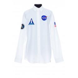 BALENCIAGA MEN'S SPACE SHIRT IN WHITE